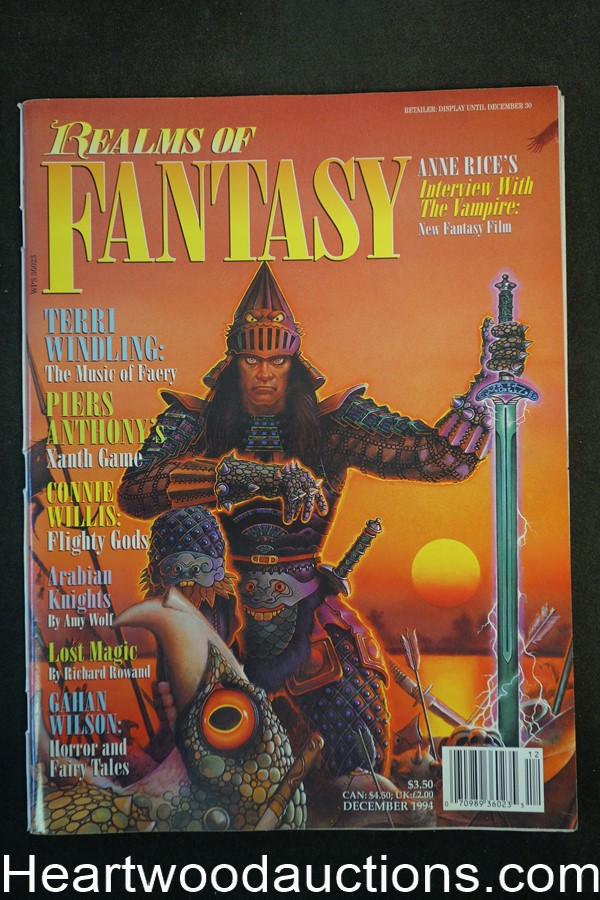 Realms of Fantasy Dec 1994 Don Maitz Cover, Gahan Wilson - High Grade