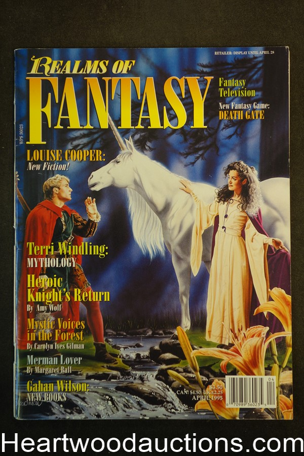 Realms of Fantasy Apr 1995 Broeck Steadman Cover, Gahan Wilson - High Grade