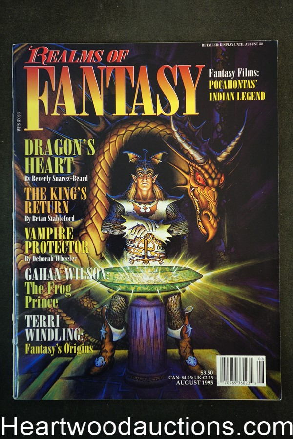 Realms of Fantasy Aug 1995 Don Maitz Cover, Gahan Wilson - High Grade
