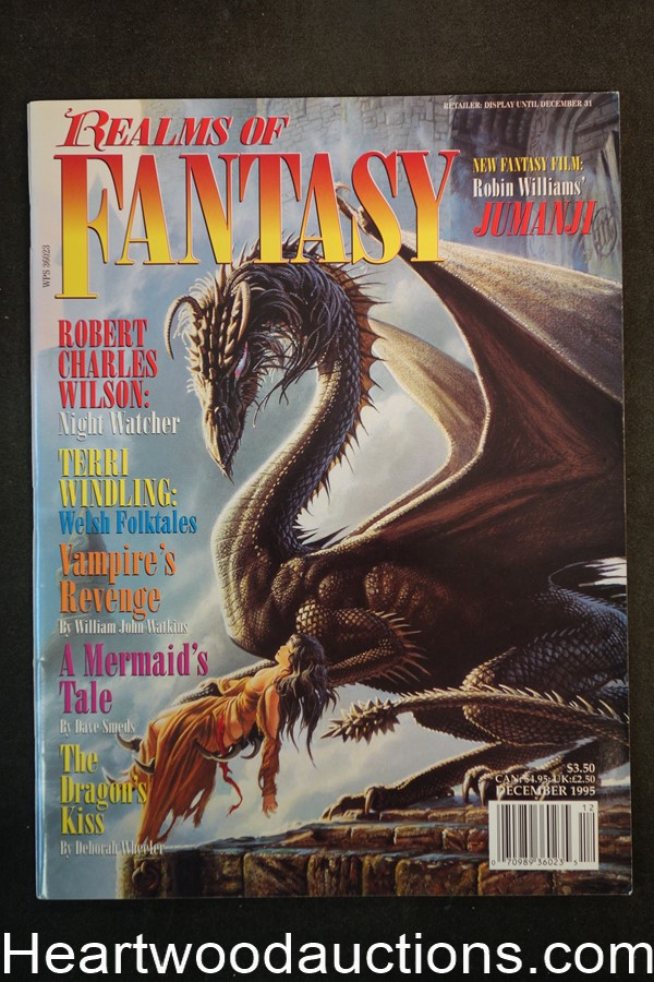 Realms of Fantasy Dec 1995 Michael Whelan Cover, Gahan Wilson - High Grade