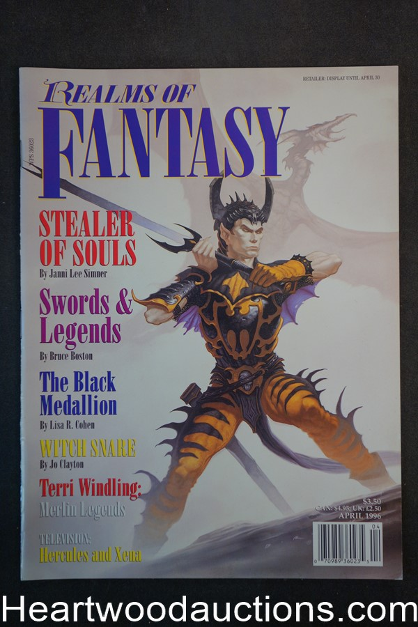 Realms of Fantasy Apr 1996 Jim Warren Cover, Gahan Wilson - High Grade