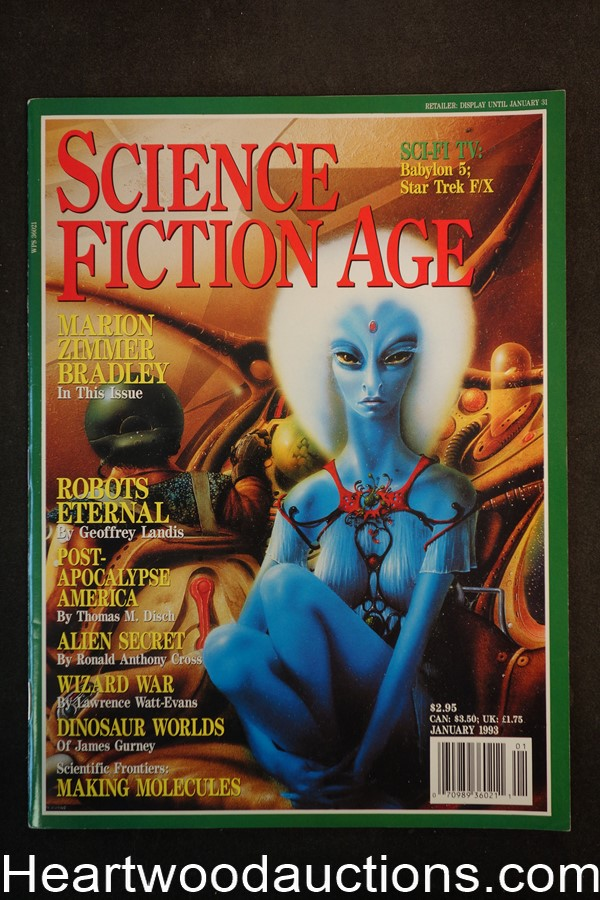 Science Fiction Age Jan 1993 Jim Burns Cover - Ultra High Grade