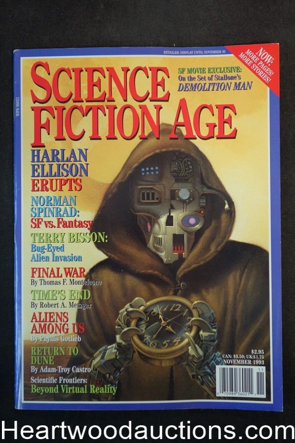 Science Fiction Age Nov 1993  Michael Whelan Cvr, Harlan Ellison, Barry Malzberg - Ultra High Grade