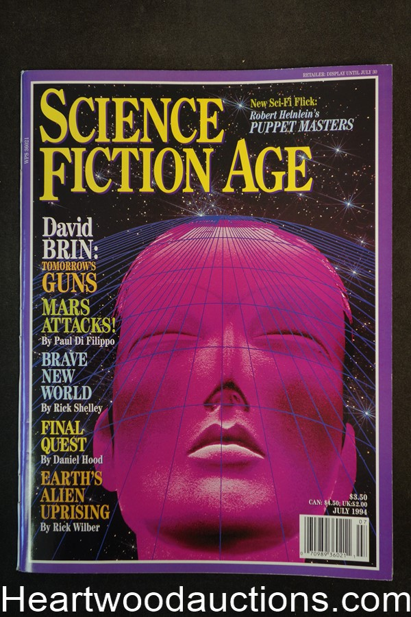 Science Fiction Age Jul 1994 Jim Zuckerman Cover, Barry Malzberg; - Ultra High Grade