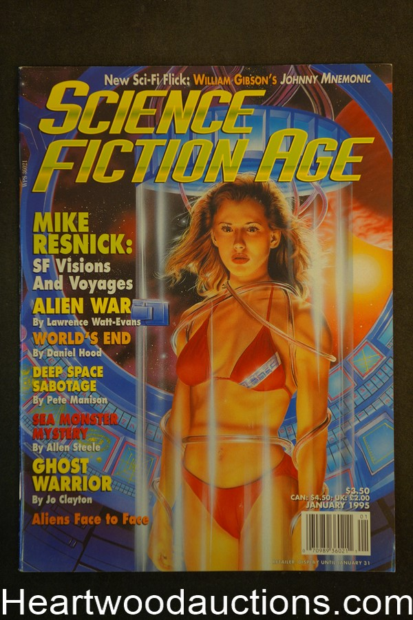 Science Fiction Age Jan 1995 Broeck Steadman Cover - Ultra High Grade