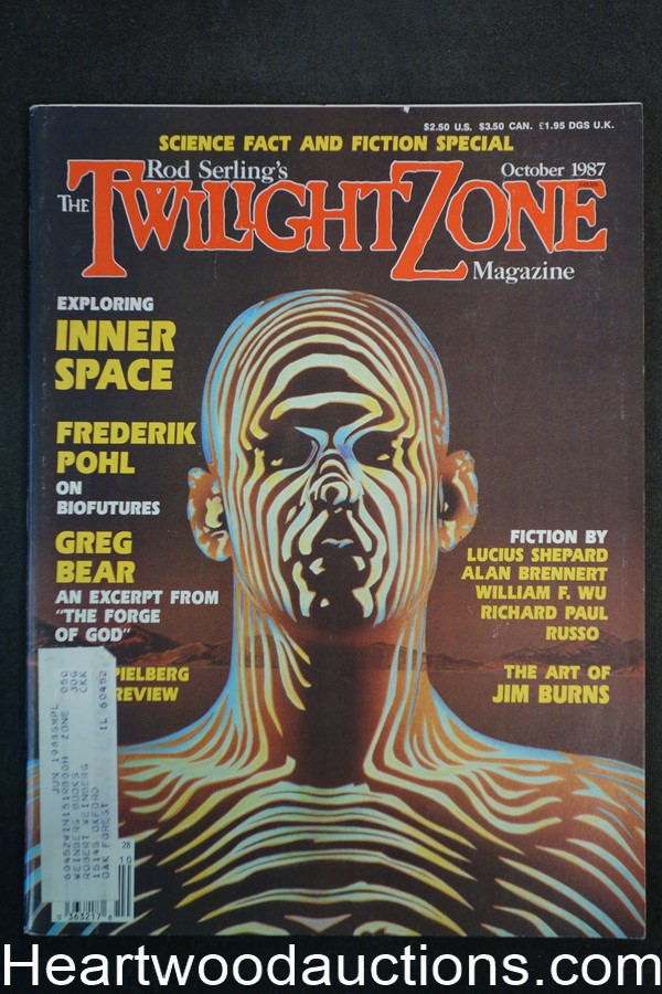 Twilight Zone Oct 1987 Peter Goodfellow Cvr, Barry Malzberg, Lucius Shepard - High Grade