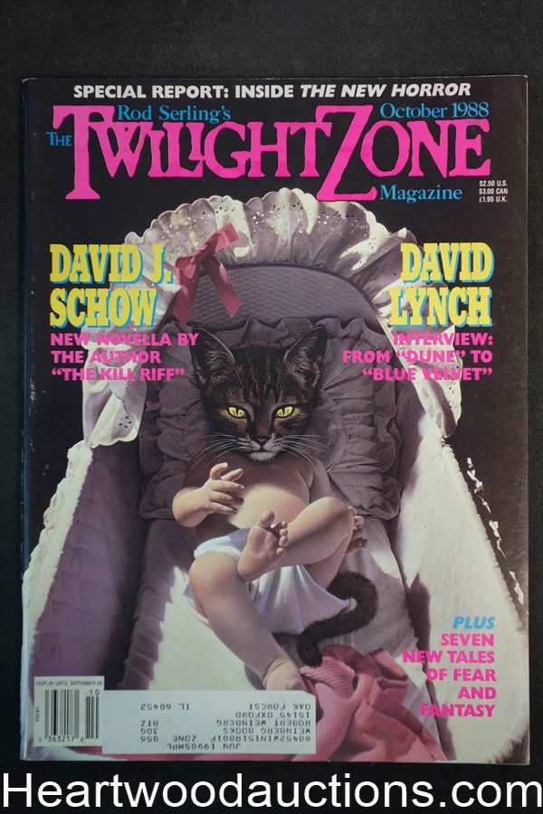 Twilight Zone Oct 1988 Richard Newton Cover - High Grade