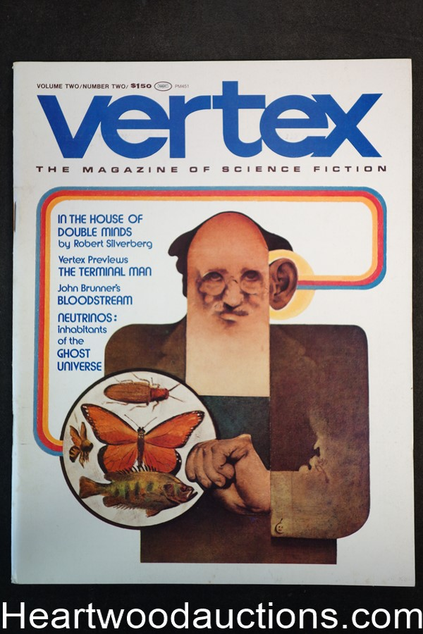 Vertex Jun 1974 Robert Silverberg, Harlan Ellison Norm Walker Cover - High Grade