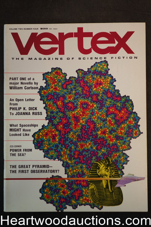 Vertex Oct 1974 Sue Anderson; Stevan Arnold Cover - High Grade