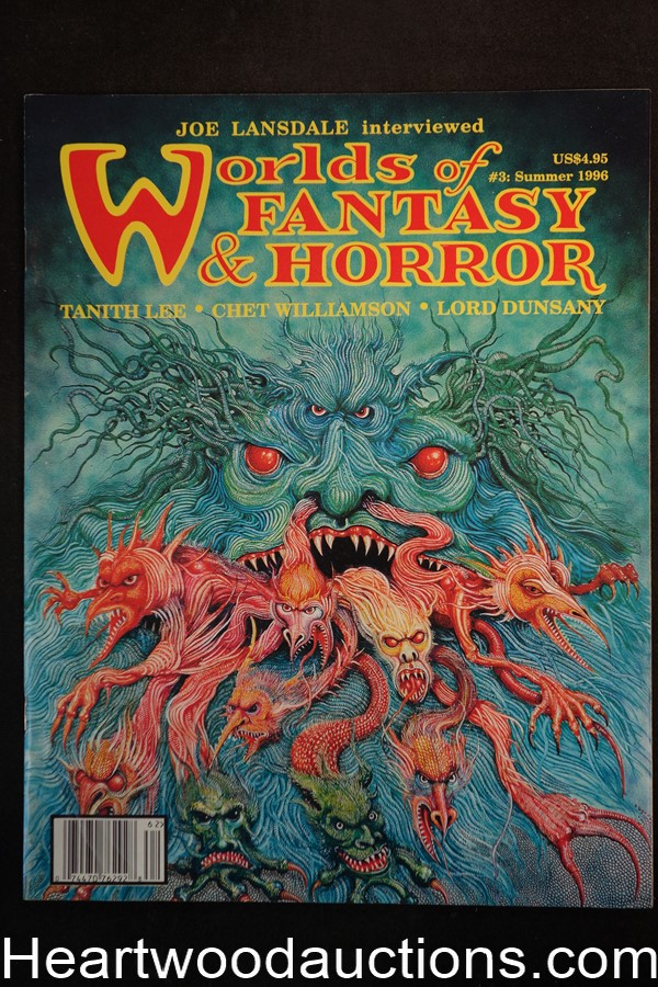 Worlds of Fantasy & Horror Summer 1996  Lord Dunsany, Tanith Lee, Chet Williamson  - High Grade