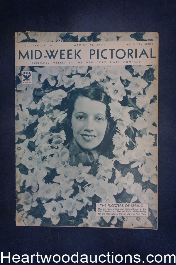 N.Y. Times Mid-Week Pictorial Mar 24, 1934 The Flowers of Spring