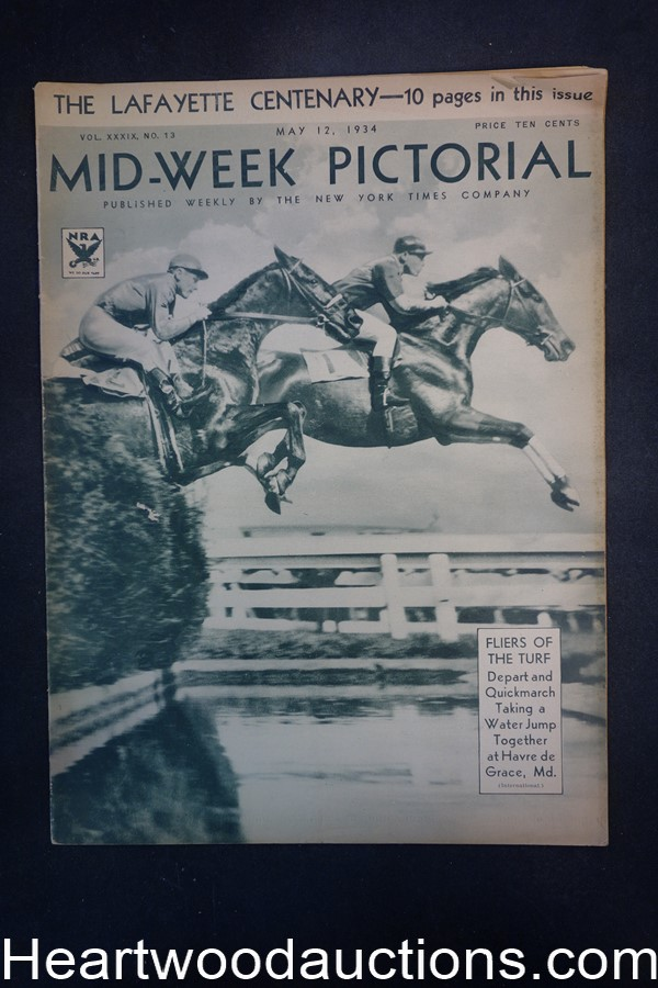 N.Y. Times Mid-Week Pictorial May 12, 1934 Fliers of the Turf