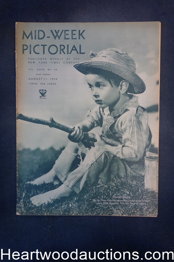 N.Y. Times Mid-Week Pictorial Aug 11, 1934 Fishin' Days