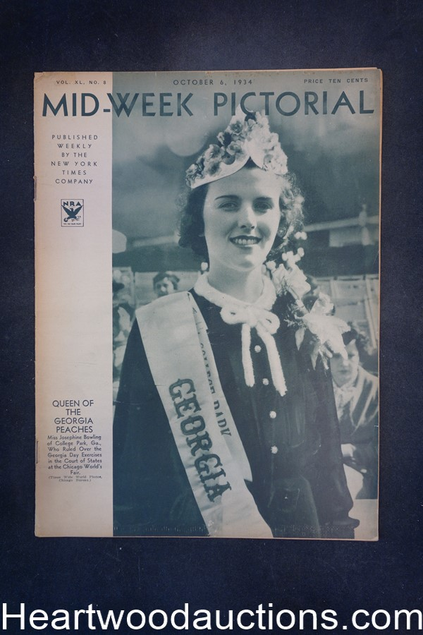 N.Y. Times Mid-Week Pictorial Oct 6, 1934 Queen of the Georgia Peaches