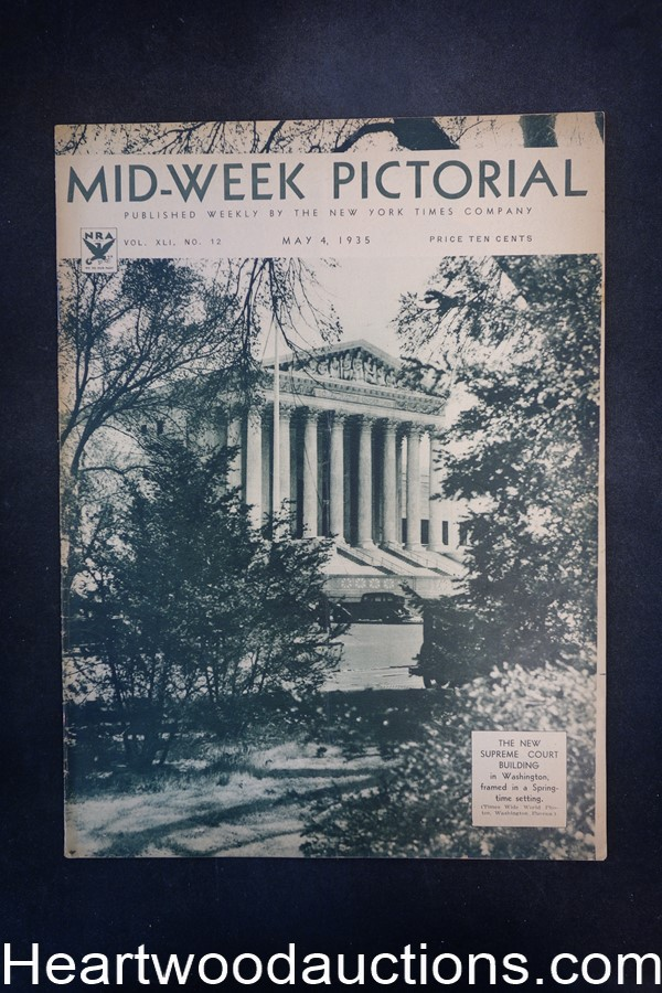 N.Y. Times Mid-Week Pictorial May 4, 1935 The New Supreme Court building