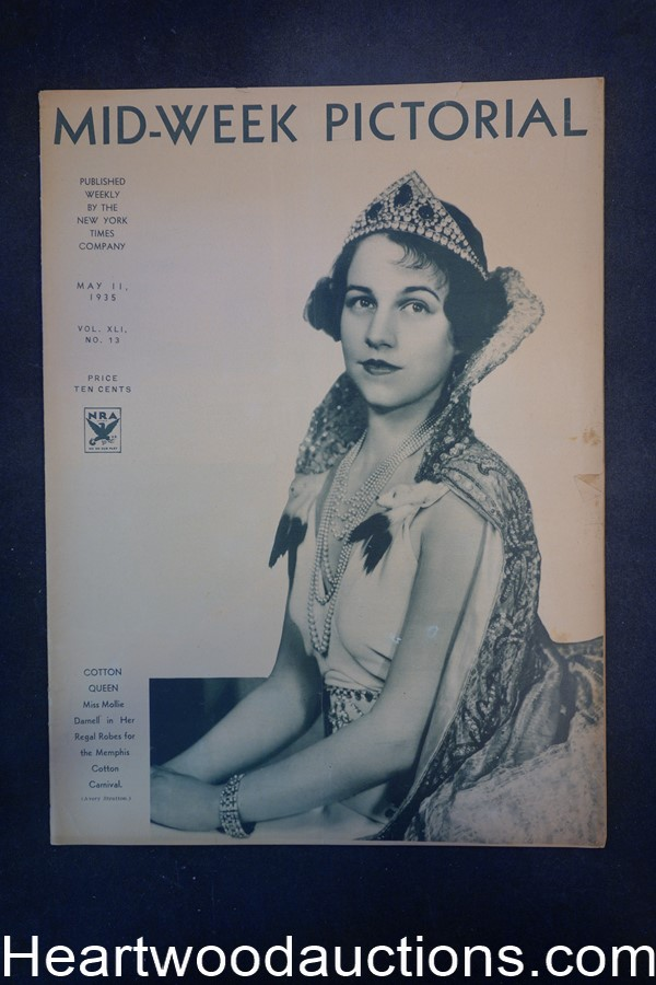 N.Y. Times Mid-Week Pictorial May 11, 1935 Cotton Queen