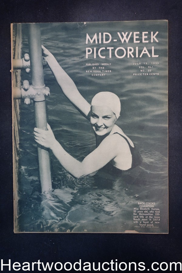 N.Y. Times Mid-Week Pictorial Jul 13, 1935 Back-Stroke Champion