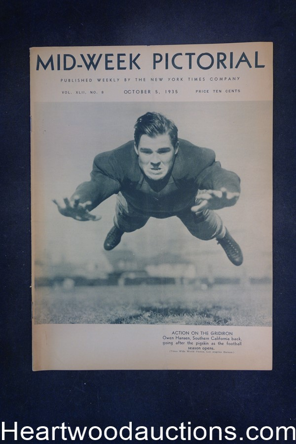 N.Y. Times Mid-Week Pictorial Oct 5, 1935 Action on the gridiron