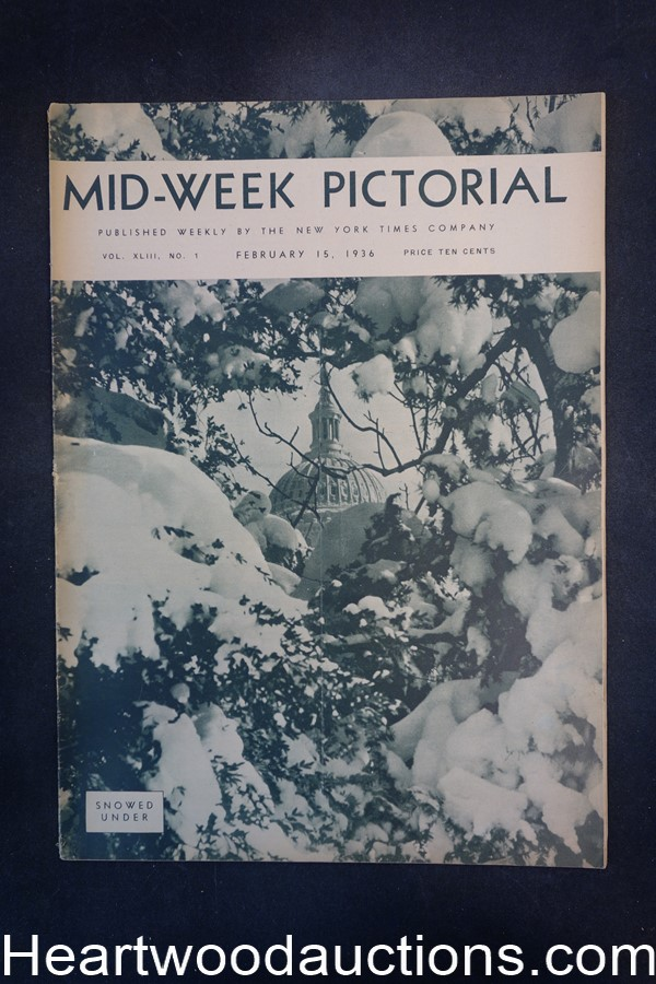 N.Y. Times Mid-Week Pictorial Feb 15, 1936 Snowed Under