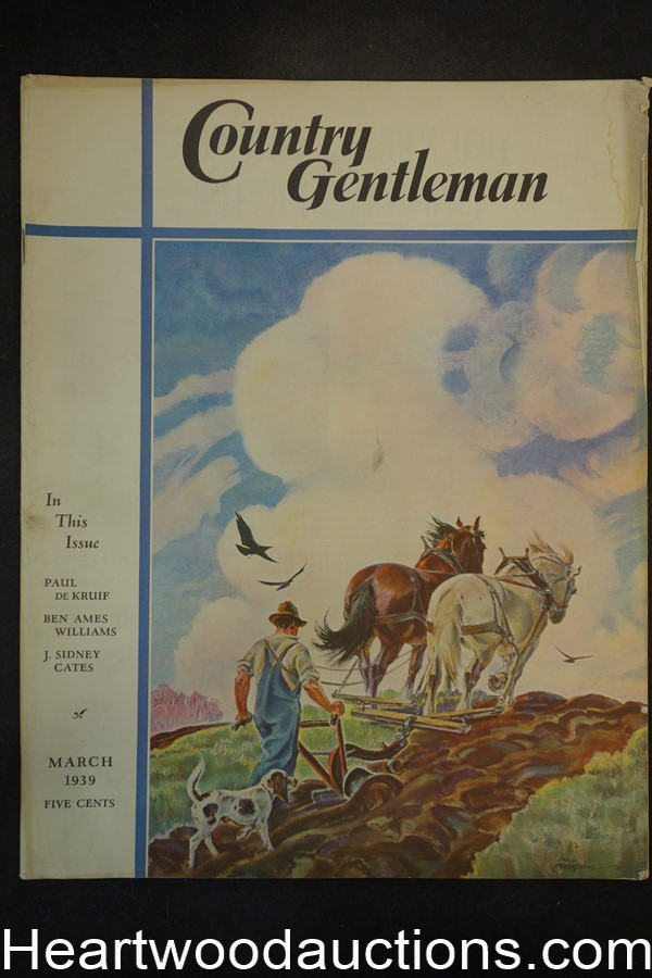 Country Gentleman Mar 1939 Robert Romond Case, William Mead Prince art