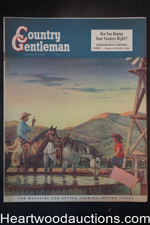Country Gentleman Aug 1952 John Patrick Gillese story, Robert Kurn art