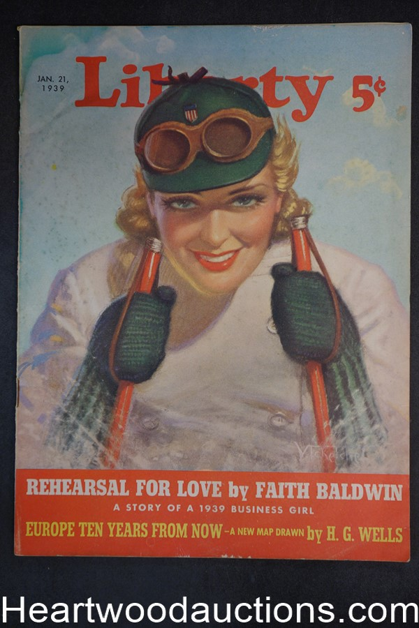 Liberty Jan 21, 1939 Faith Baldwin, Leslie McFaralane, H.G. Wells,