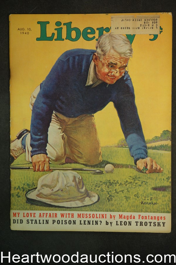 Liberty Aug 10, 1940 J.F. Kernan Golf Cvr, Stalin and Lenin, Mussolini, Leon Trotsky