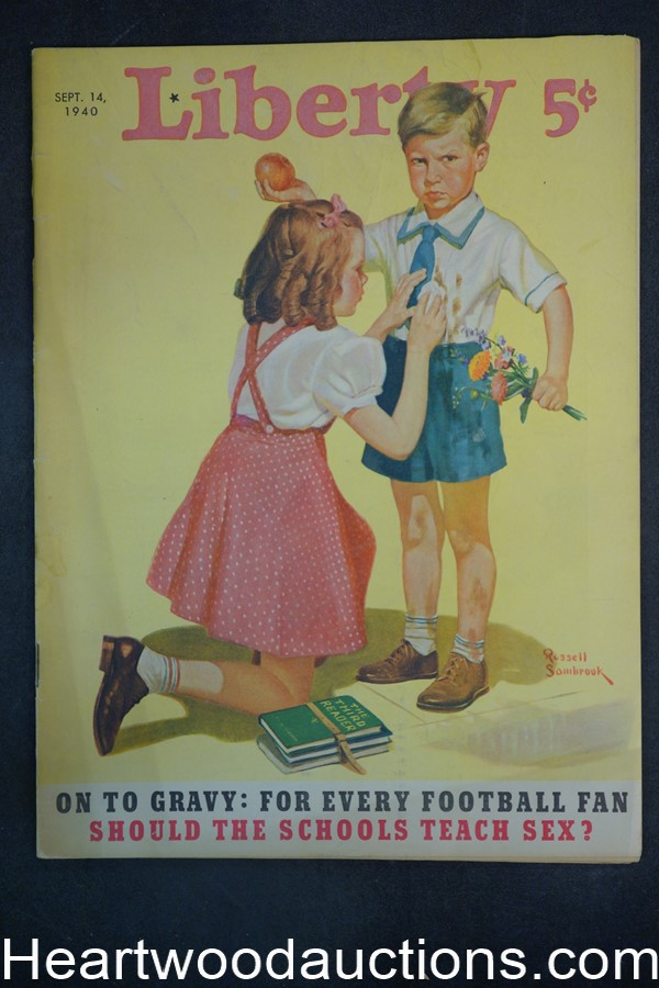 Liberty Sep 14, 1940 Basil Rathbone, Fred Allhoff, Football, New Deal
