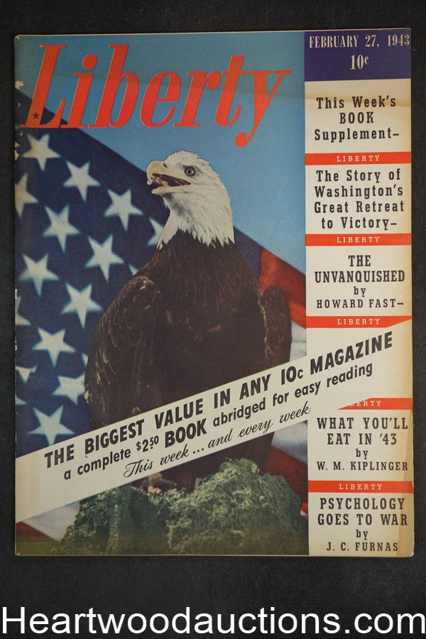 Liberty Feb 27, 1943 Rommel, Boxing Schmeling + Louis, Marriage + sex, Howard Fast