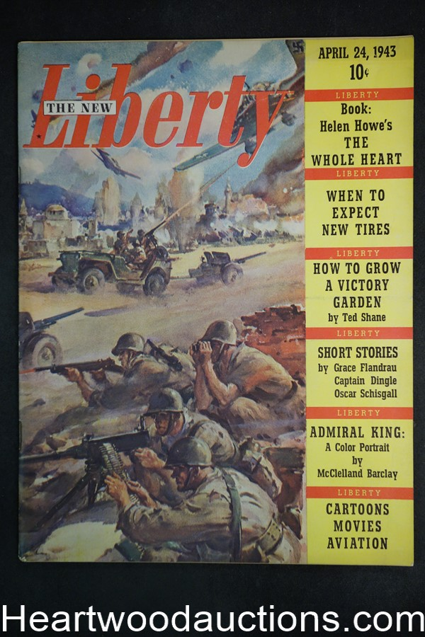 Liberty Apr 24, 1943 Oscar Schisgall, William Russwig; G.F. Schmidt; Frank Godwin, - High Grade