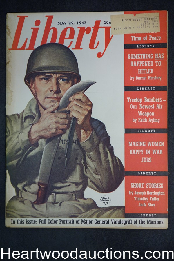 Liberty May 29, 1943 Margaret Sullavan, Hitler, YANK newspaper, Frank Godwin