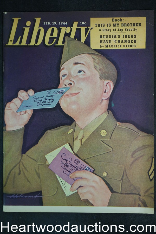 Liberty Feb 19, 1944 World War II, Vacum packaging, Hollywood