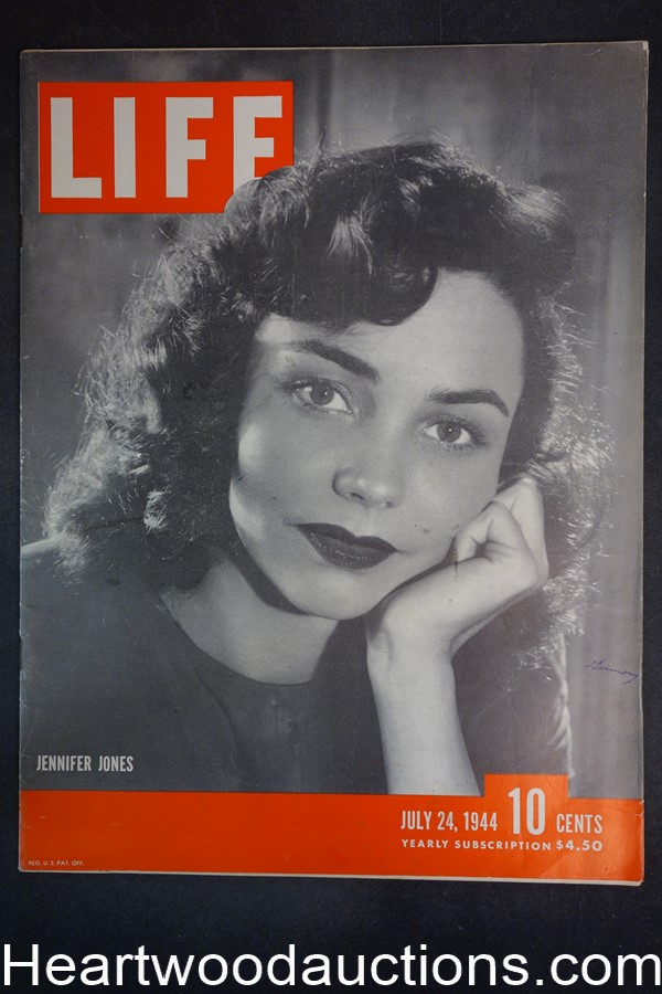 Life Jul 24, 1944 Jennifer Jones, Claudette Colbert, Henry Ford, WWII