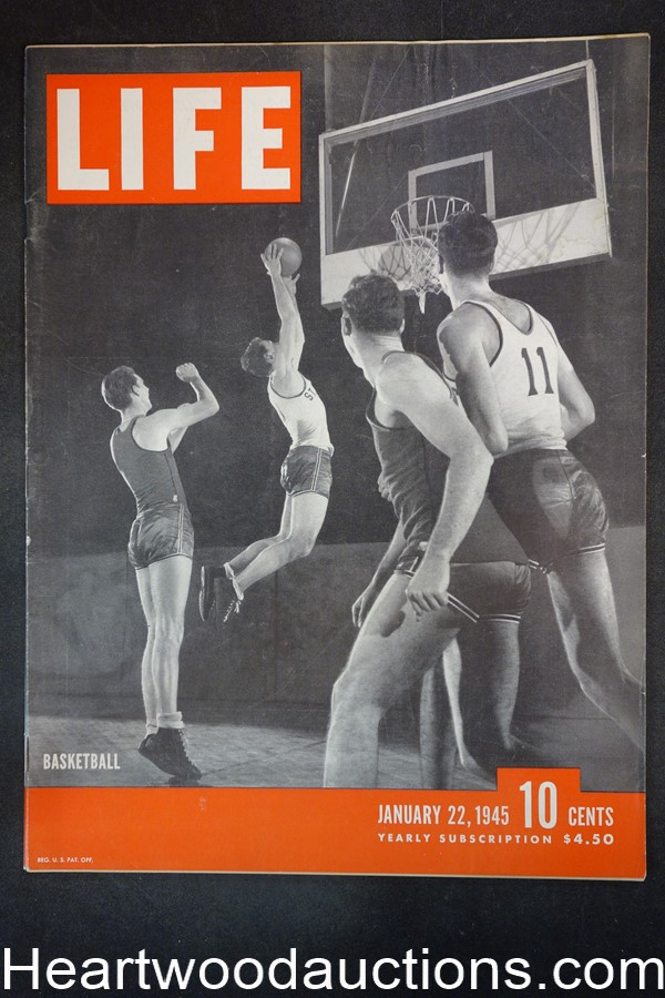 Life Jan 22, 1945 College basketball, WWII