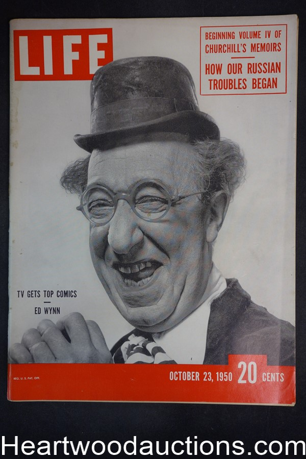 Life Oct 23, 1950 Ed Wynn, Winston Churchill, college football