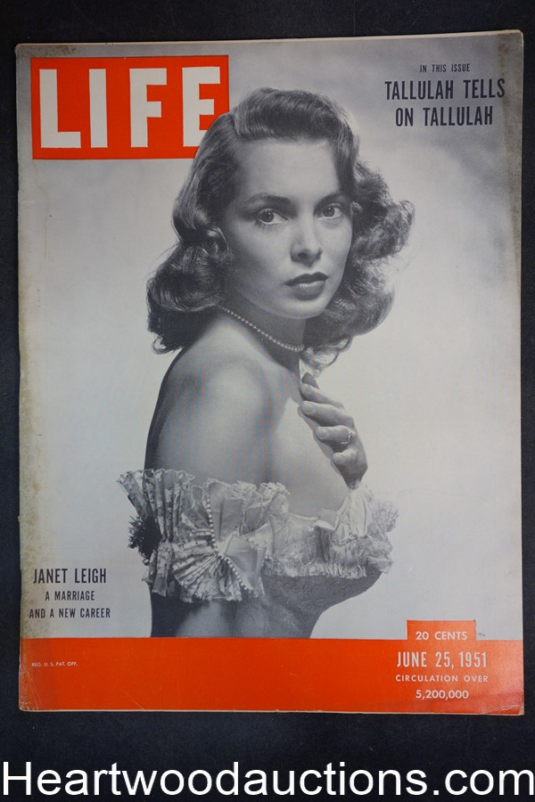 Life Jun 25, 1951 Janet Leigh, Tallulah Bankhead, post-WWII