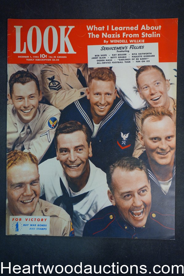 Look Dec 1, 1942 Servicemen?s Follies, Linda Darnell, Rita Hayworth, Betty Grable - High Grade