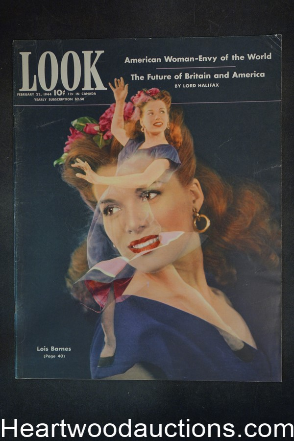 Look Feb 22, 1944 Lois Barnes, WWII