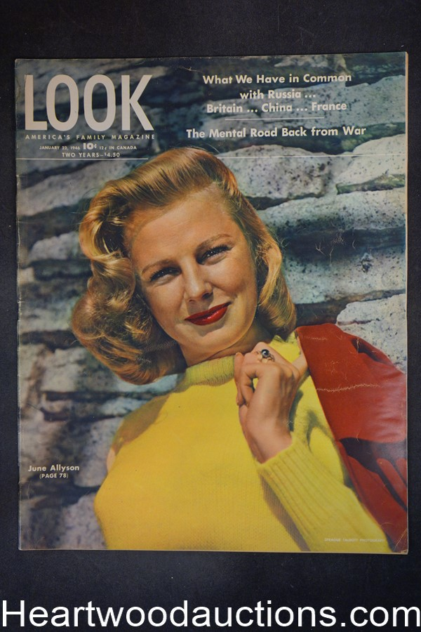 Look Jan 22, 1946 June Allyson, college basketball