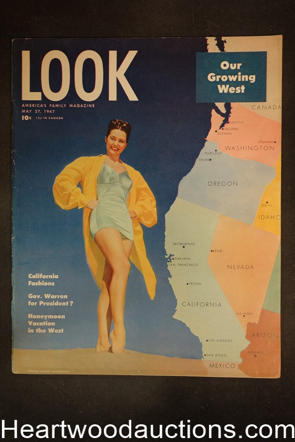 Look May 27, 1947 Tennis, WWII, Betty Hutton, fashion