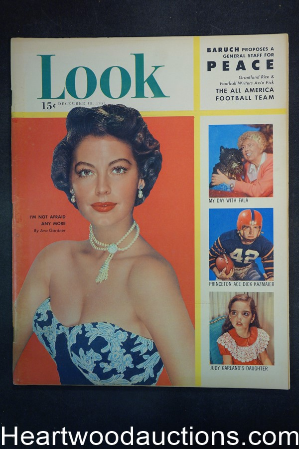 Look Dec 18, 1951 Ava Gardner, college football, FDR?s dog, San Francisco