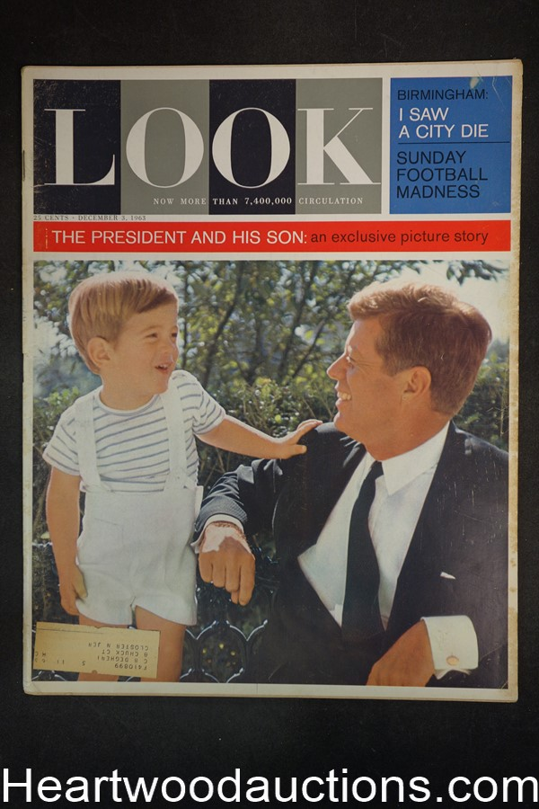 Look Dec 3, 1963 JFK, Football, Birmingham Alabama