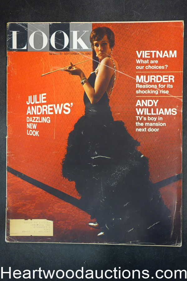 Look Sep 19, 1967 Julie Andrews, Vietnam War, Andy Williams, Topaz by Leon Uris
