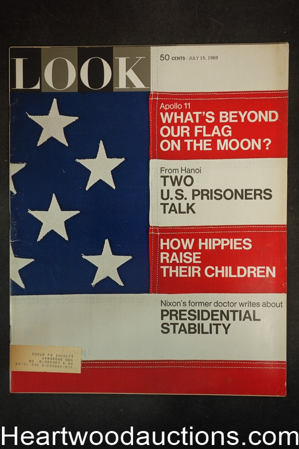 Look Jul 15, 1969 Apollo 11, Dick Cavett, Vietnam War - High Grade