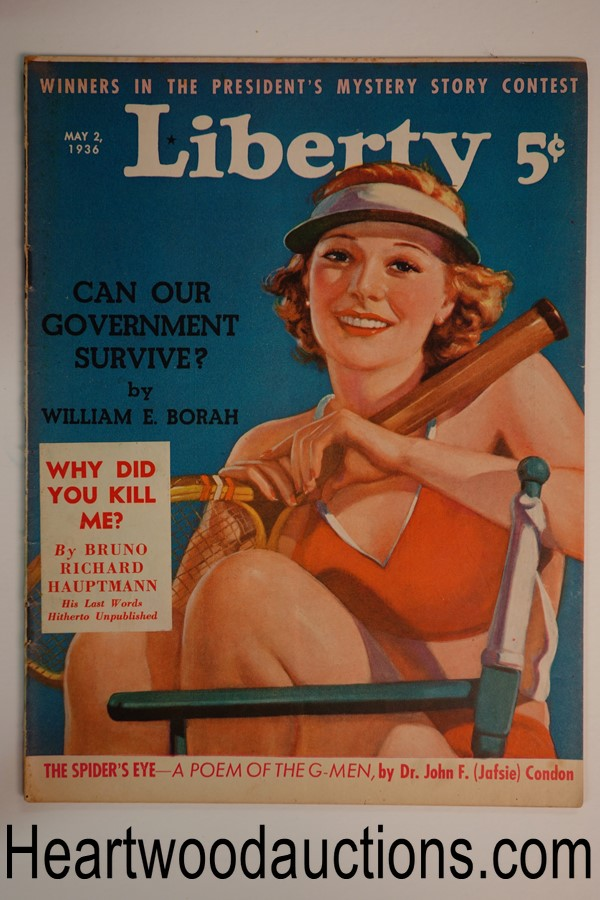 Liberty May 2, 1936 Bruno Hauptmann, Lindbergh kidnapping, George Fielding Elliot