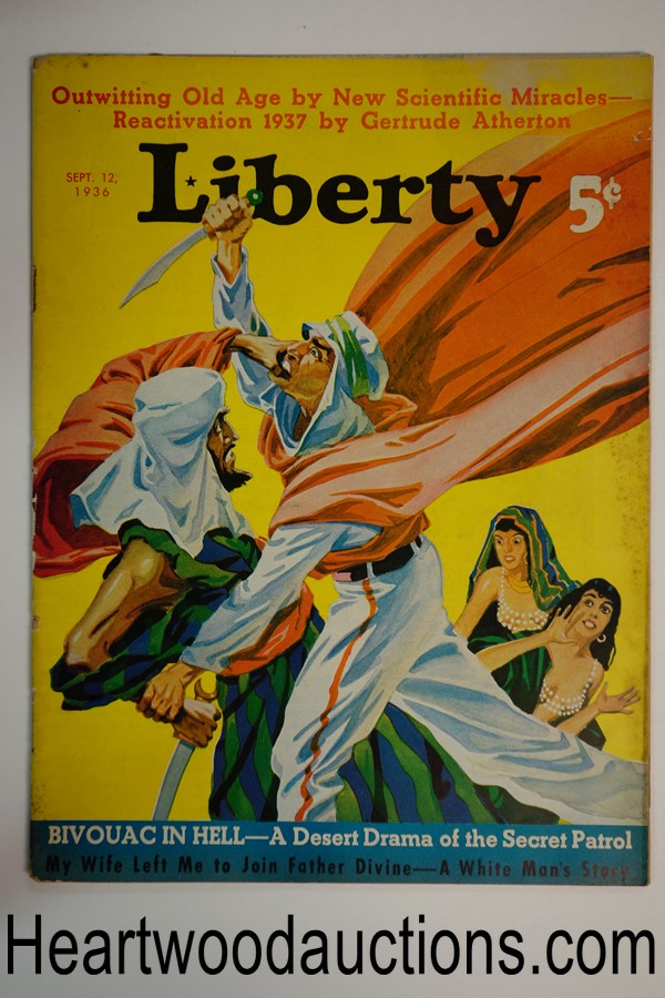 Liberty Sep 12, 1936 John Newton Howitt cover, Football, fiction
