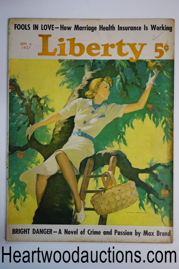 Liberty Sep 4, 1937 Robert G. Harris cvr, Max Brand, Arch Whitehouse, W.C. Fields
