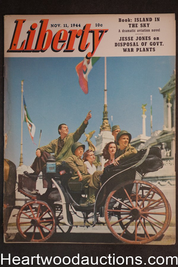 Liberty Nov 11, 1944 John D. Weaver, H. Vernor Dixon, Brian Donlevy, World War II