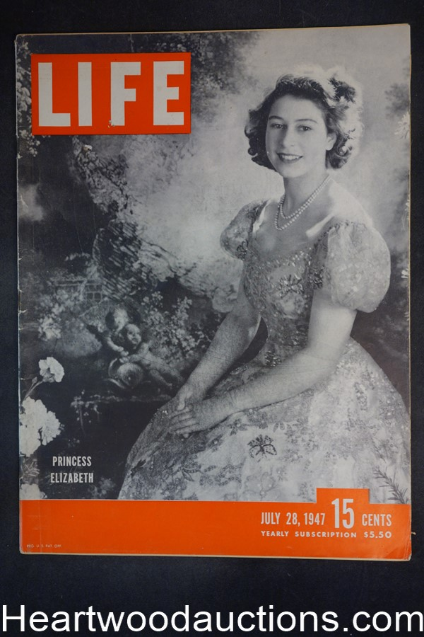 Life Jul 28, 1947 Princess Elizabeth, Clark Gable, Tom Dewey, Rocky Graziano