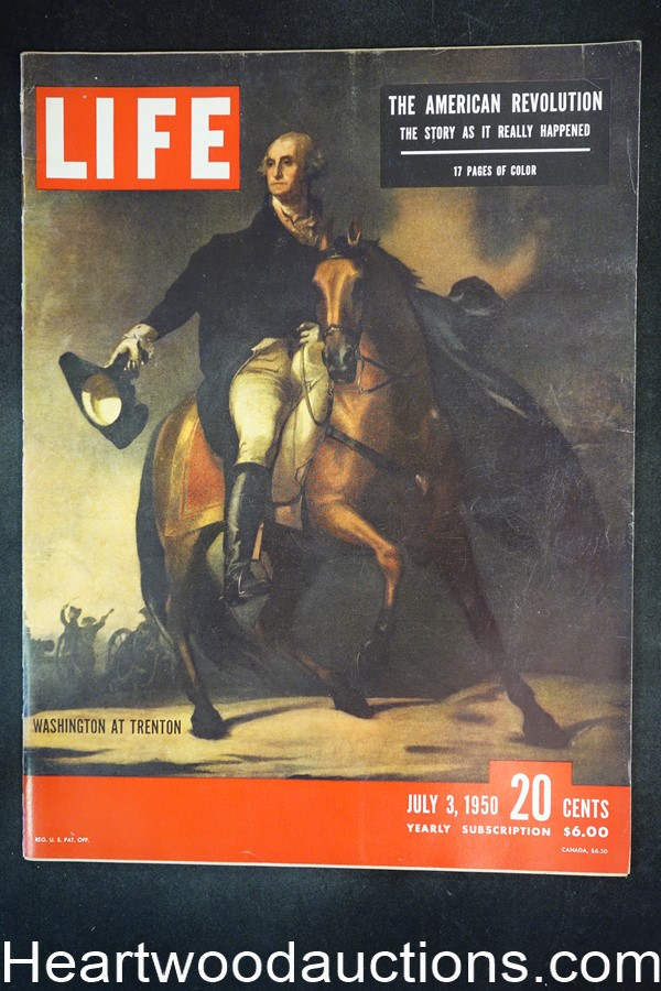Life Jul 3, 1950 George Washington, American Revolution, Sound of Fury, Camel cigs - High Grade